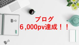 【ブログ】月間6,000pv達成!期間・記事数・収益・要因など!